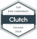Cluch Top B2B Companies in Poland 2018 award